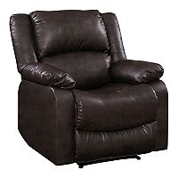 Lifestyle Solutions Warren Recliner Faux Leather Chair