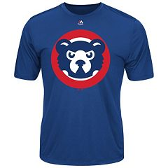 Men's Majestic Chicago Cubs Cooperstown Official Logo Tee