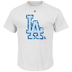 Men's Majestic Los Angeles Dodgers Push Through Tee
