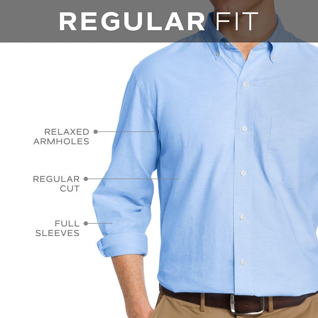 Men's IZOD Essential Tattersal Button-Down Shirt