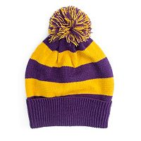 MUK LUKS Game Day Striped Beanie