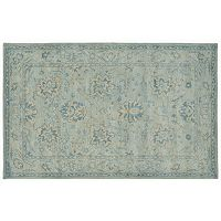 Trans Ocean Imports Liora Manne Petra Nain Framed Floral Wool Rug