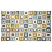 Liora Manne Spello Big Squares Indoor Outdoor Rug