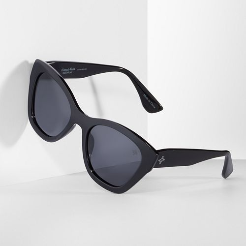 Women's Simply Vera Vera Wang Pastry Polarized Cat's-Eye Sunglasses