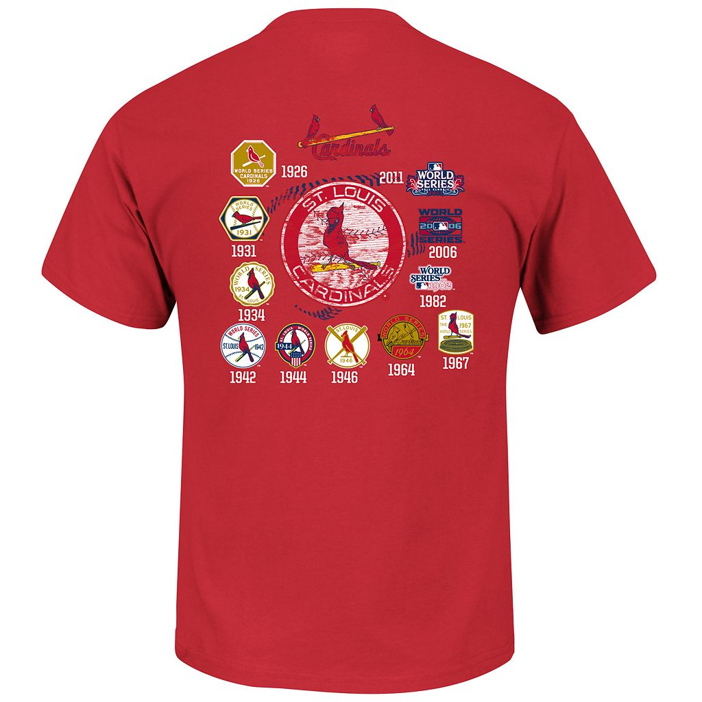Men's Majestic St. Louis Cardinals Last Rally Tee