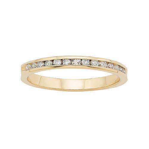 14k Gold 1/4 Carat T.W. Diamond Anniversary Ring