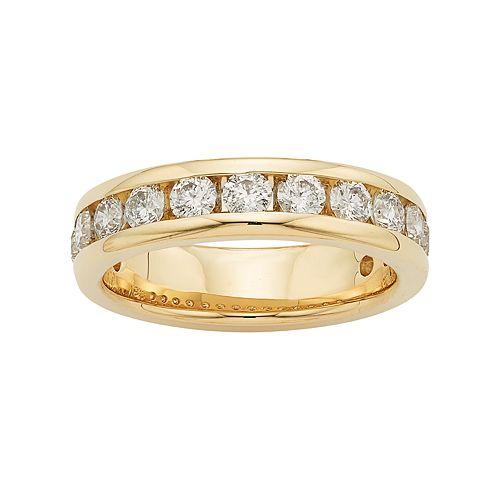 14k Gold 1 1/4 Carat T.W. Diamond Anniversary Ring