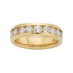 14k Gold 2 Carat T.W. Diamond Anniversary Ring