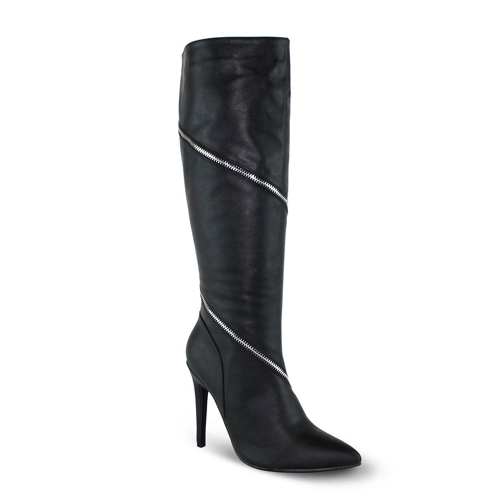 Olivia Miller Trinity Women's Zipper High Heel Boots