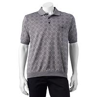 Men's Safe Harbor Argyle Jacquard Banded-Bottom Polo