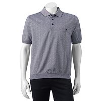 Men's Safe Harbor Jacquard Banded-Bottom Polo