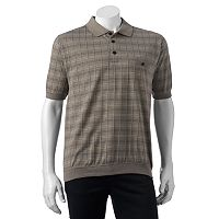 Men's Safe Harbor Grid Jacquard Banded-Bottom Polo