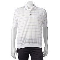 Men's Safe Harbor Grid Banded-Bottom Polo
