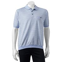 Men's Safe Harbor Space-Dye Jacquard Banded-Bottom Polo