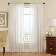 Vue Signature 1-Panel Textured Chiffon Sheer Window Curtain