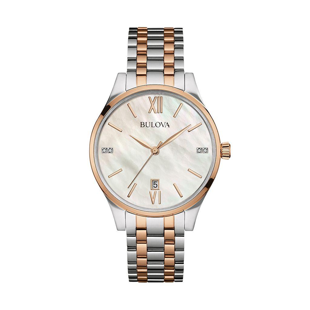Bulova Women's Maiden Lane Diamond Stainless Steel Watch