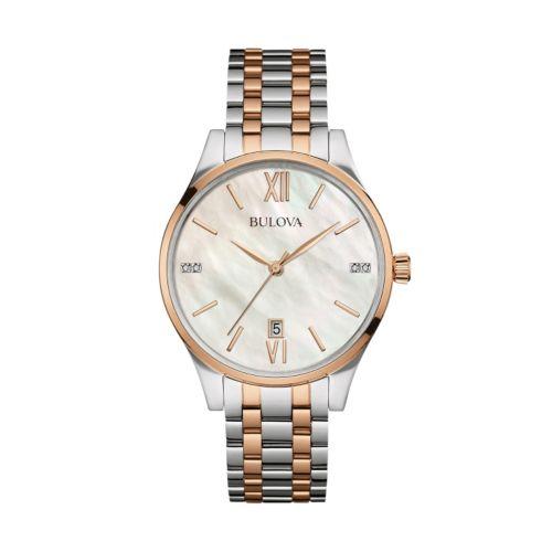 Bulova Women s Winslow Diamond Bracelet Watch – 0 23 ctw