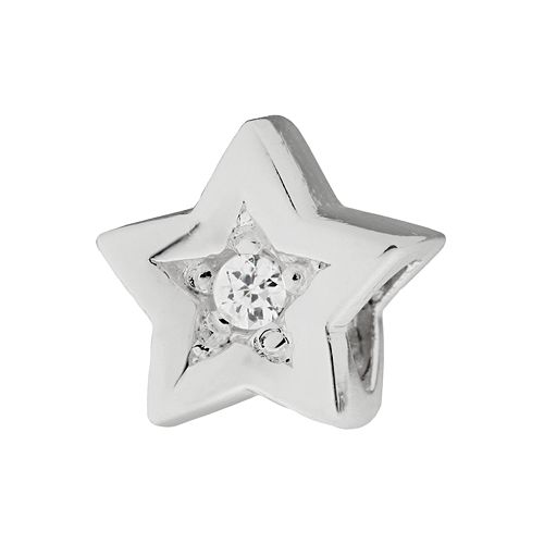 Individuality Beads Cubic Zirconia Sterling Silver Star Bead