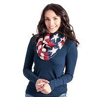 MUK LUKS Women's American Flag Infinity Scarf