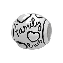 Individuality Beads Sterling Silver 'Family Love' Bead