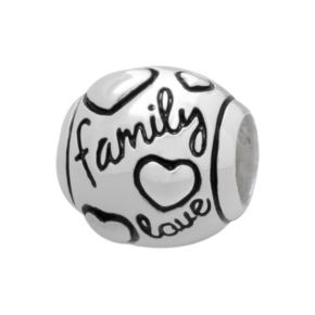 """Individuality Beads Sterling Silver """"Family Love"""" Bead"""