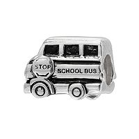 Individuality Beads Sterling Silver School Bus Bead