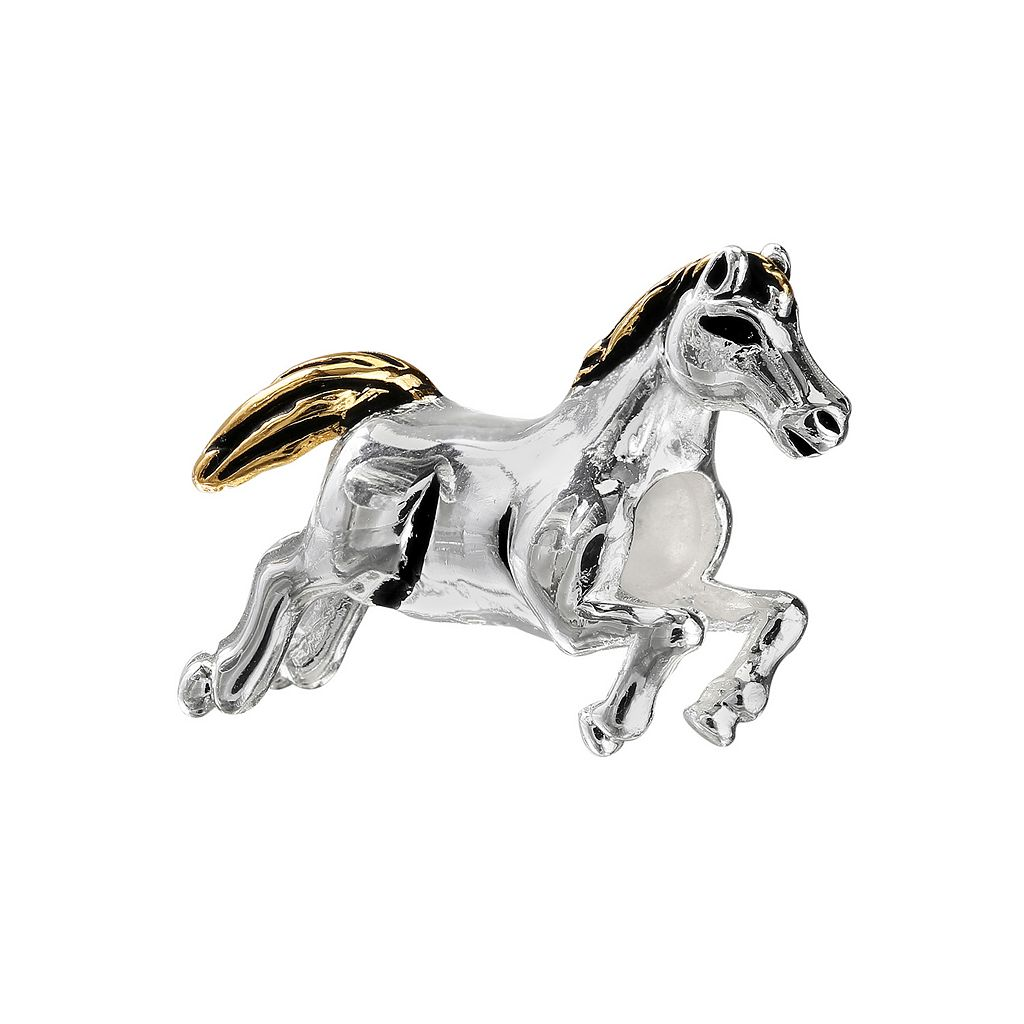 Individuality Beads Sterling Silver & 14k Gold Over Silver Horse Bead