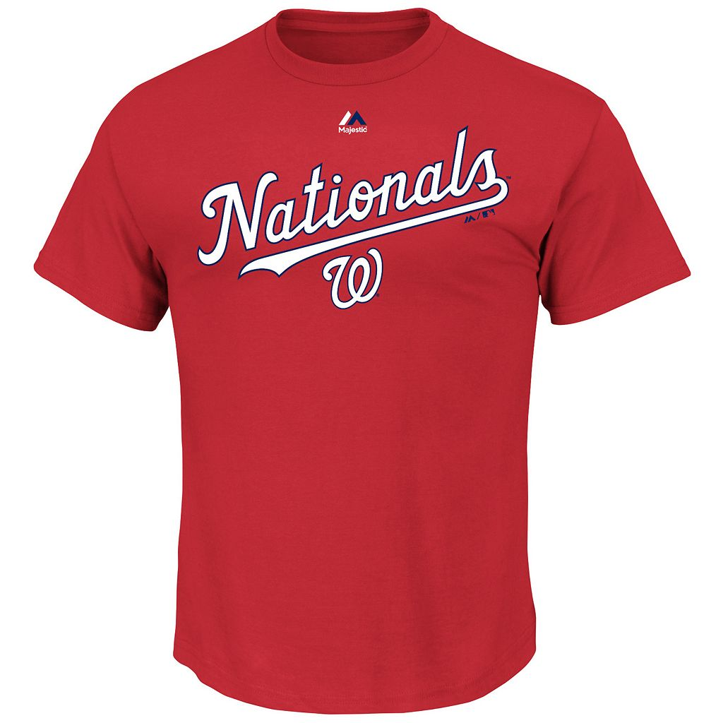 Men's Majestic Washington Nationals Series Sweep Tee