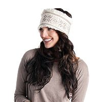 MUK LUKS Women's Faux-Fur Snowflake Nordic Headband