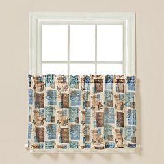 Saturday Knight, Ltd. Faith Tier Kitchen Window Curtain Set
