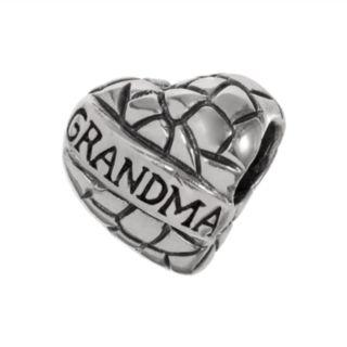 "Individuality Beads Sterling Silver ""Grandma"" Heart Bead"