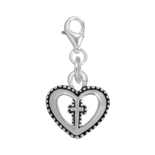 Individuality Beads Sterling Silver Heart Cross Charm