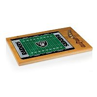 Picnic Time Oakland Raiders Cutting Board Serving Tray