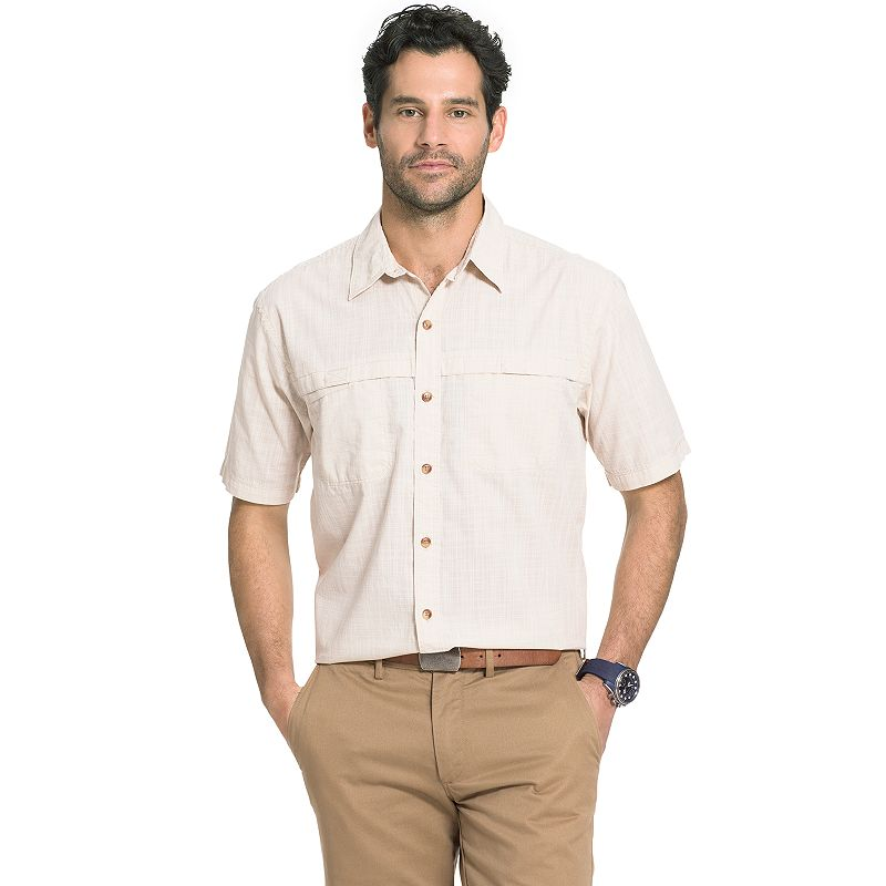 Big & Tall Arrow Classic-Fit Crosshatch Button-Down Shirt