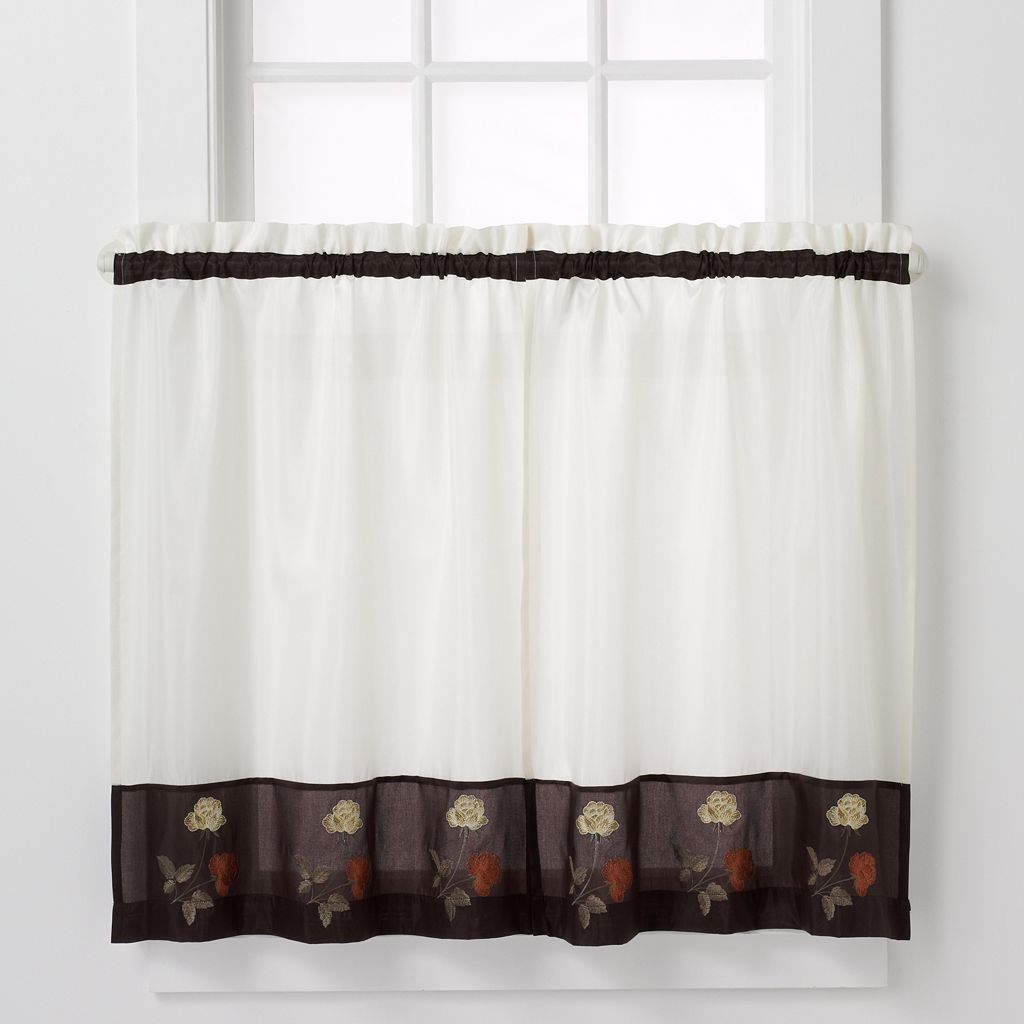 CHF Rose Tailored 2-pk. Tier Curtains