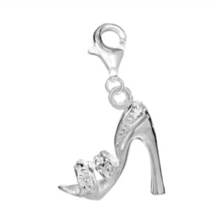 Individuality Beads Crystal Sterling Silver Sandal Charm