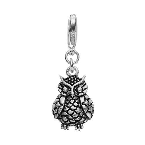 Blue La Rue Silver-Plated Owl Charm