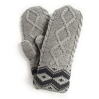 MUK LUKS Women's Textured Marled Mittens