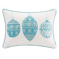 Madison Park Velvet Ornament Throw Pillow