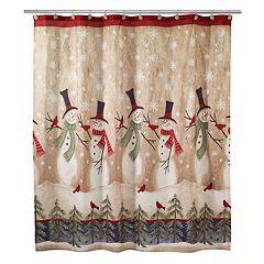 avanti tall snowman shower curtain - Kohls Christmas Shower Curtain
