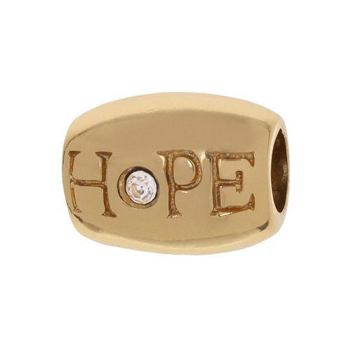 "Individuality Beads Crystal 24k Gold Over Silver ""Hope"" Bead"