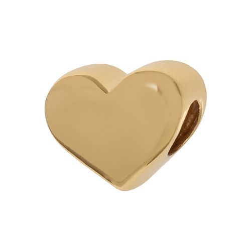 Individuality Beads 24k Gold Over Silver Heart Bead