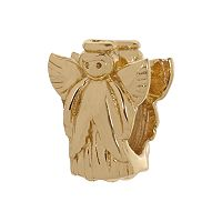 Individuality Beads 24k Gold Over Silver Angel Bead
