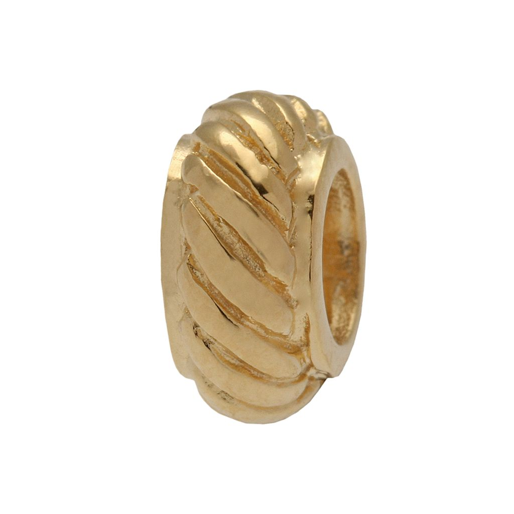 Individuality Beads 24k Gold Over Silver Twist Bead