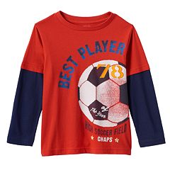 Toddler Boy Chaps Graphic Skater Tee