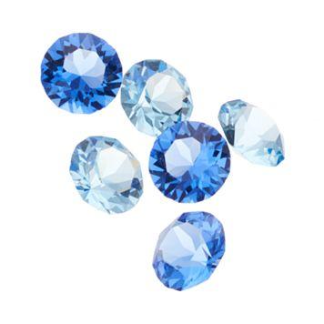 Blue La Rue Crystal Charm Set - Made with Swarovski Crystals