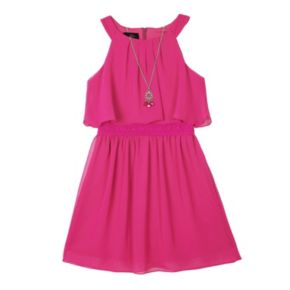 Girls 7-16 IZ Amy Byer Popover Halter Dress