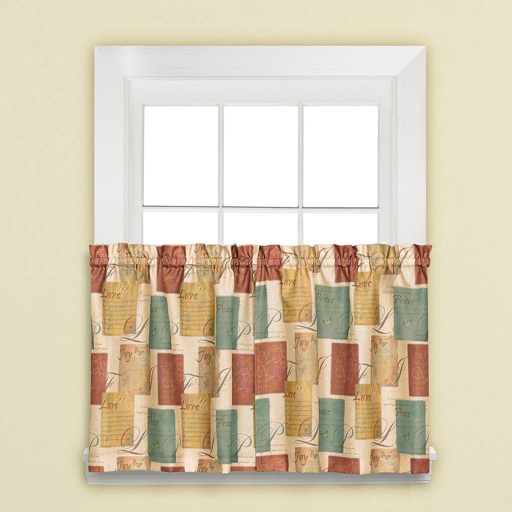 Tranquility 2-pk. Tiered Curtains