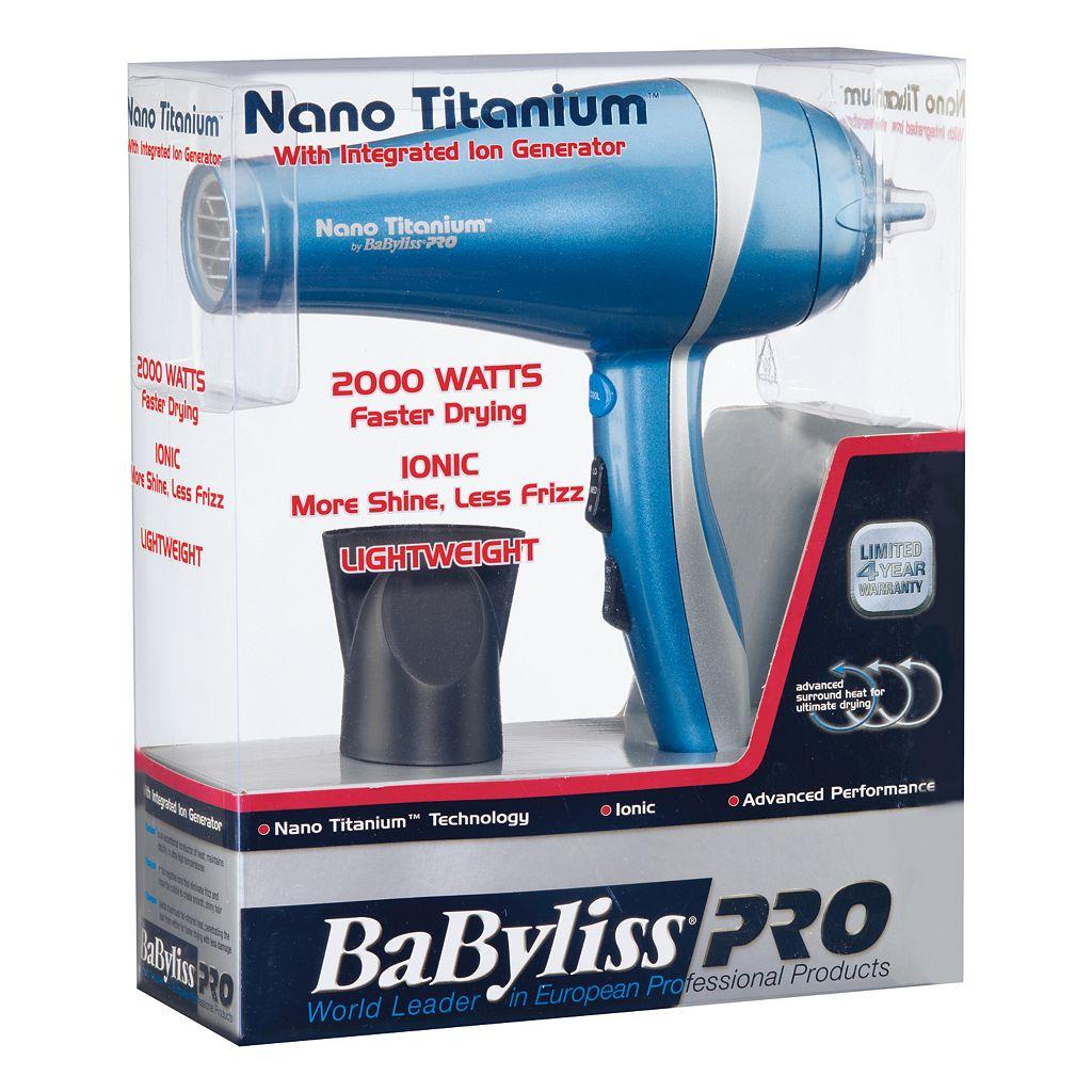 BaByliss Pro Nano Titanium Hair Dryer