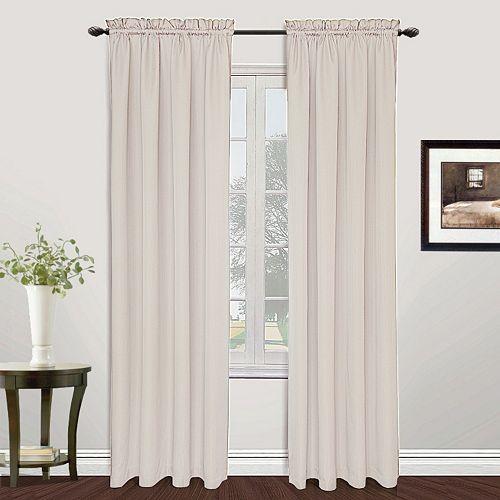 United Curtain Co. 1-Panel Metro Window Curtains